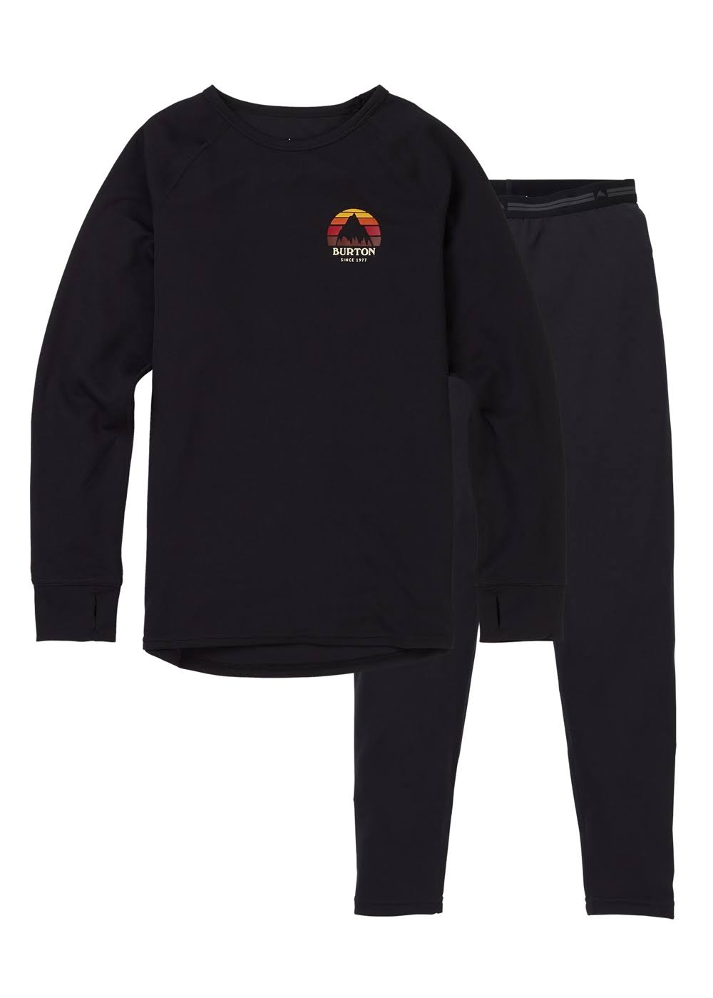Burton Kid's Lightweight Baselayer Set - True Black, Medium