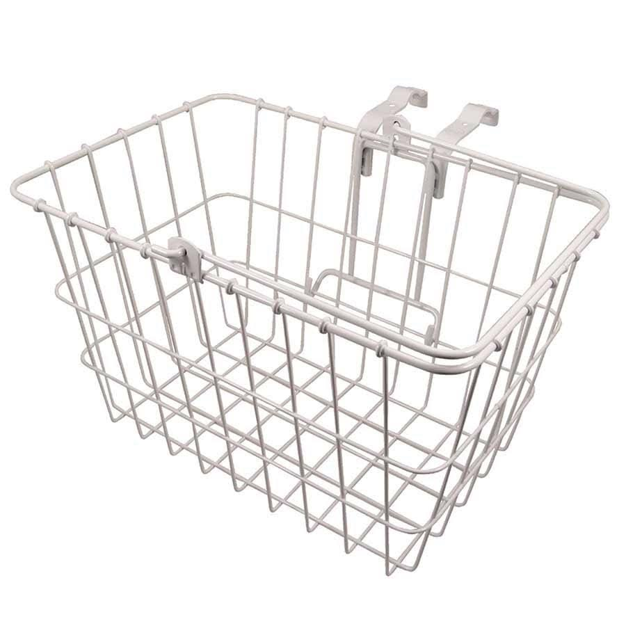 Wald 3133 Q-R Bolt-On Front Handlebar Bike Basket - White