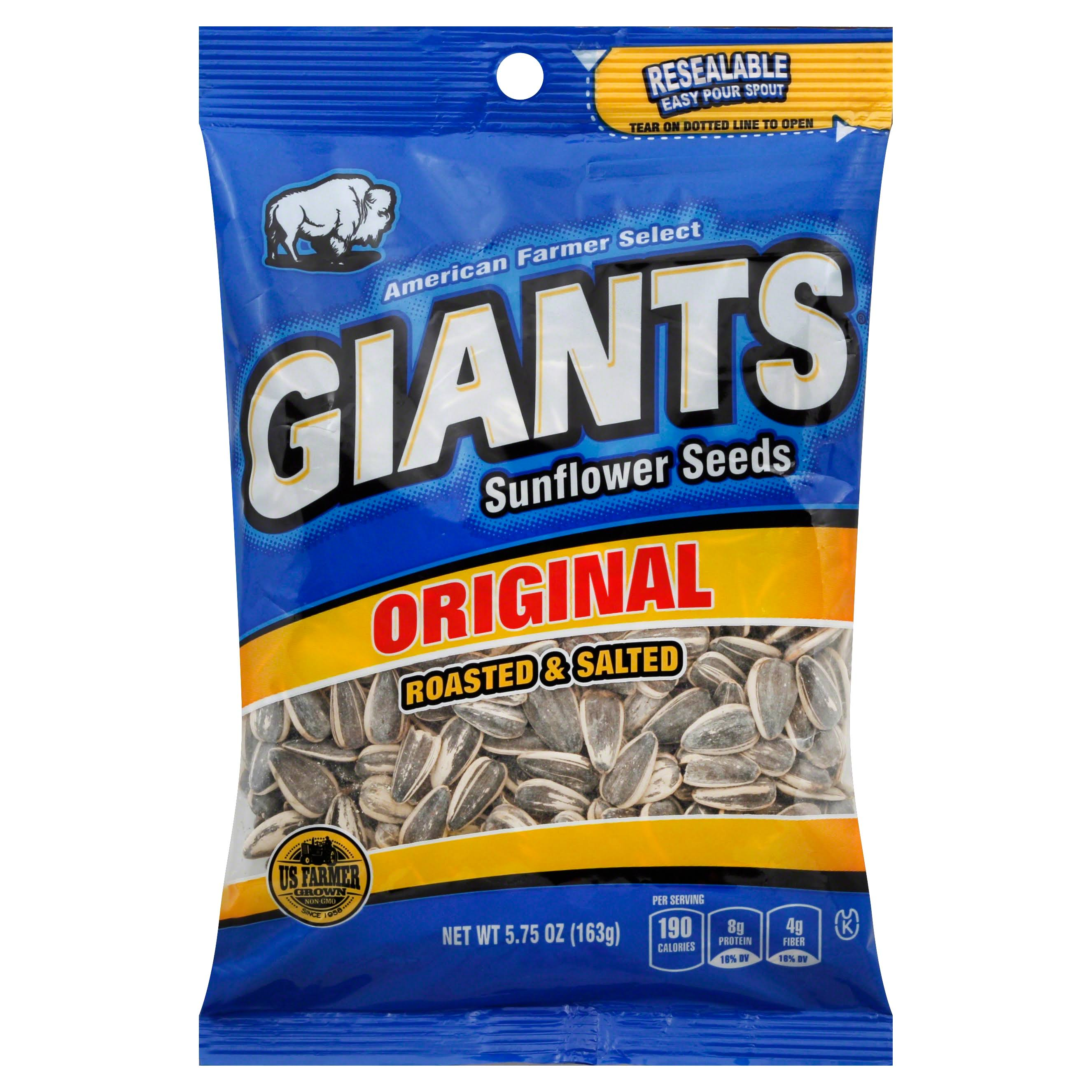 Giants Sunflower Seeds - Roasted & Salted, Original, 163g