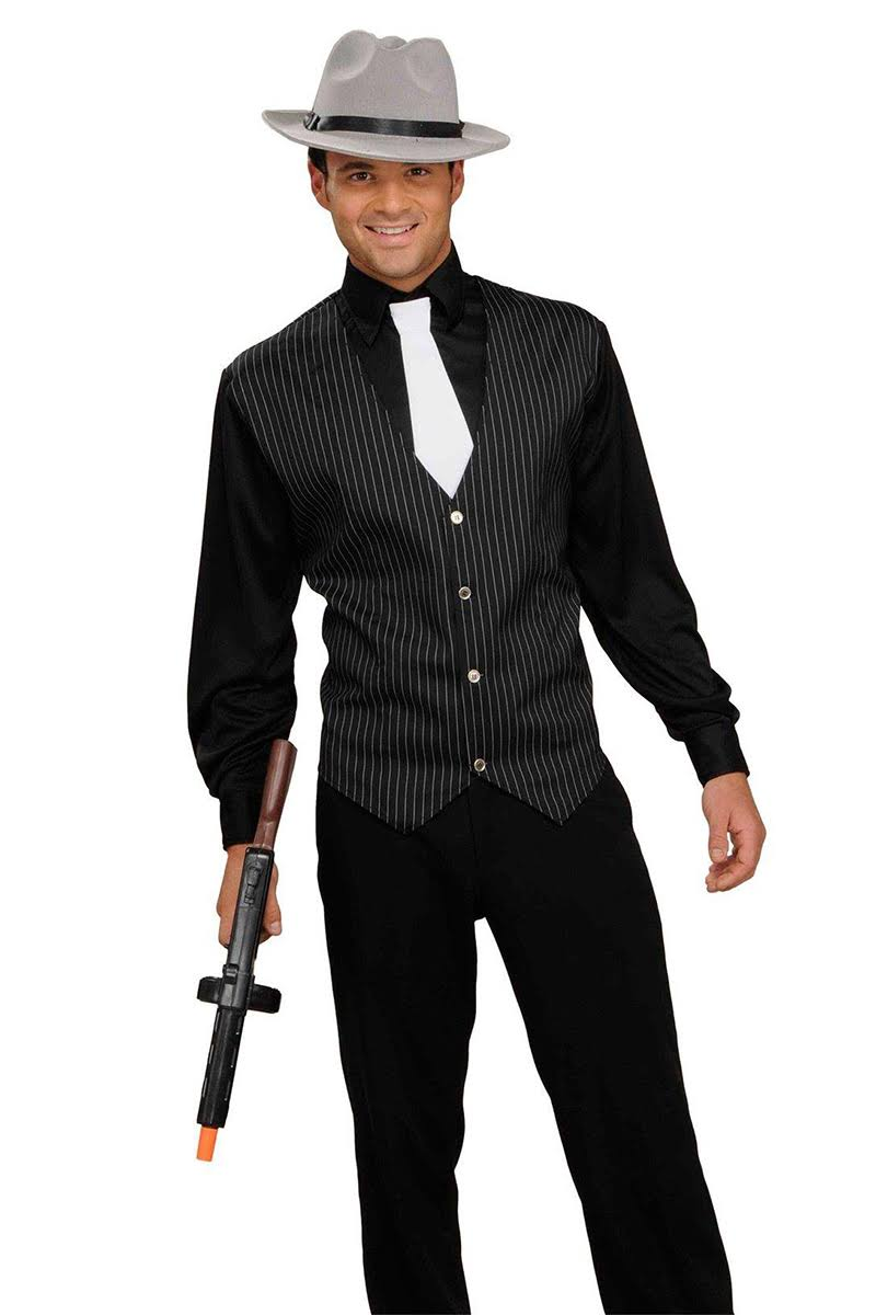 Forum Novelties Adult Costume - 20s Gangster, Black and White, One Size