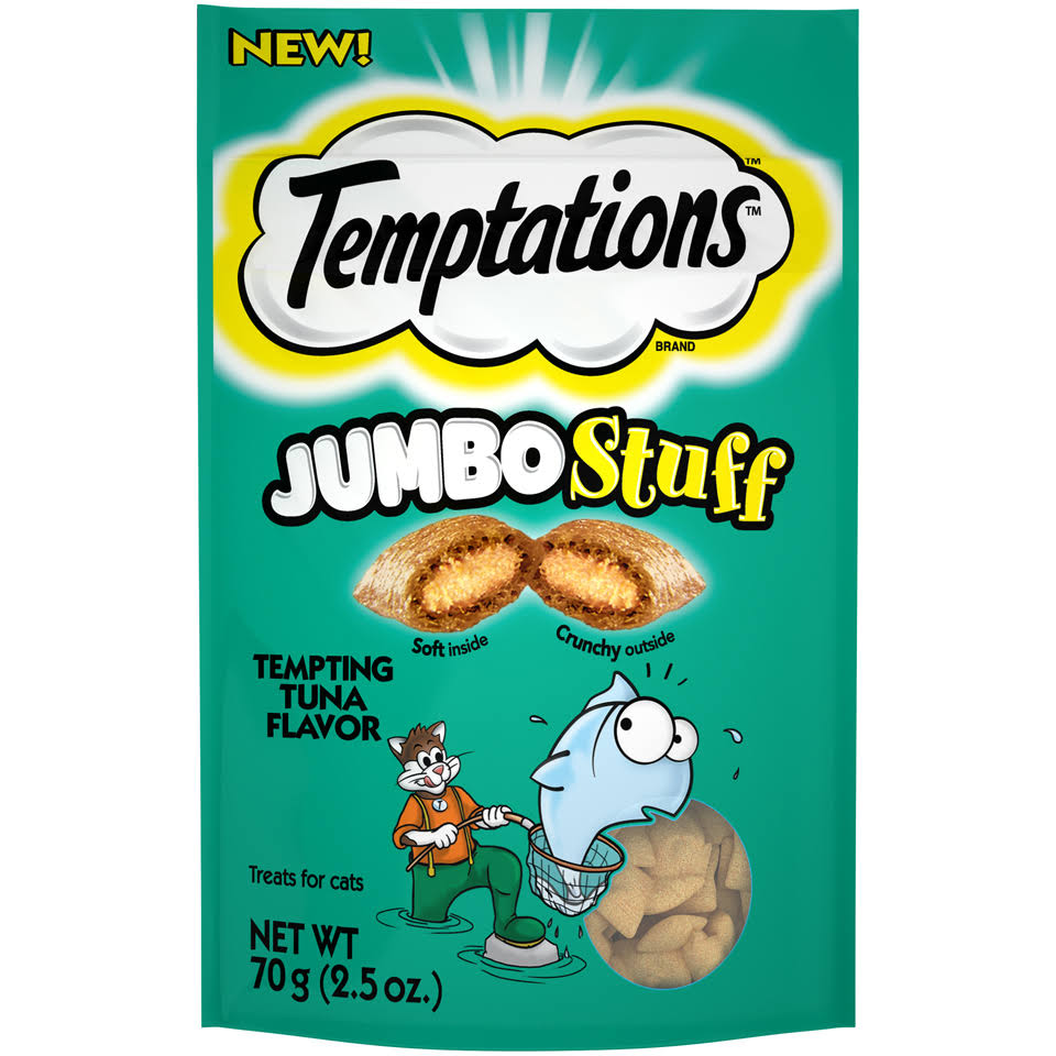 Temptations Jumbo Stuff, Tempting Tuna Flavor - 70 g