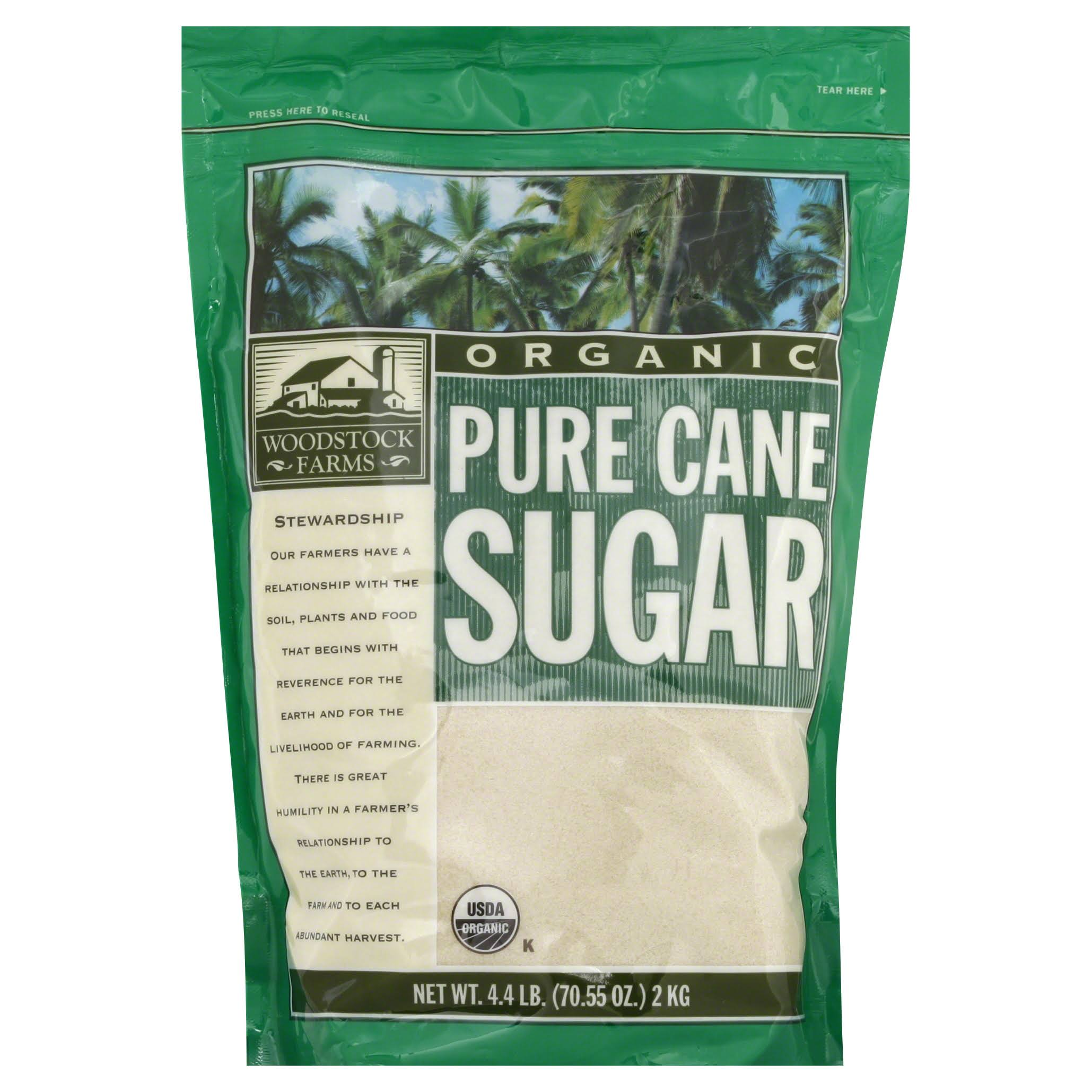 Woodstock Farms Granulated Pure Cane Sugar - 4.4 lb pouch