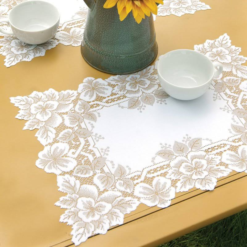 Heritage Lace Heirloom Placemat White