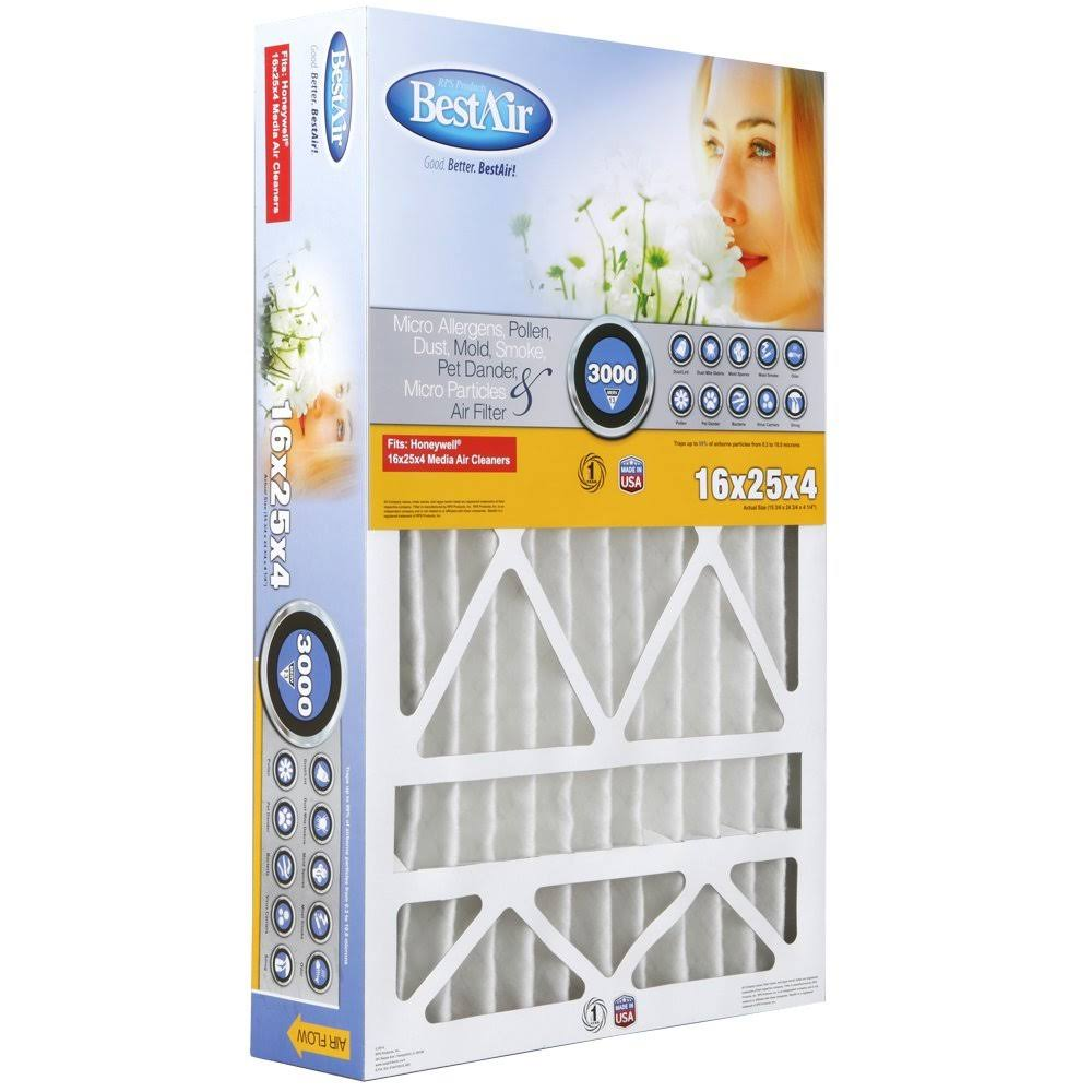 "Bestair Pleated Air Filter - 16""x25""x4"""