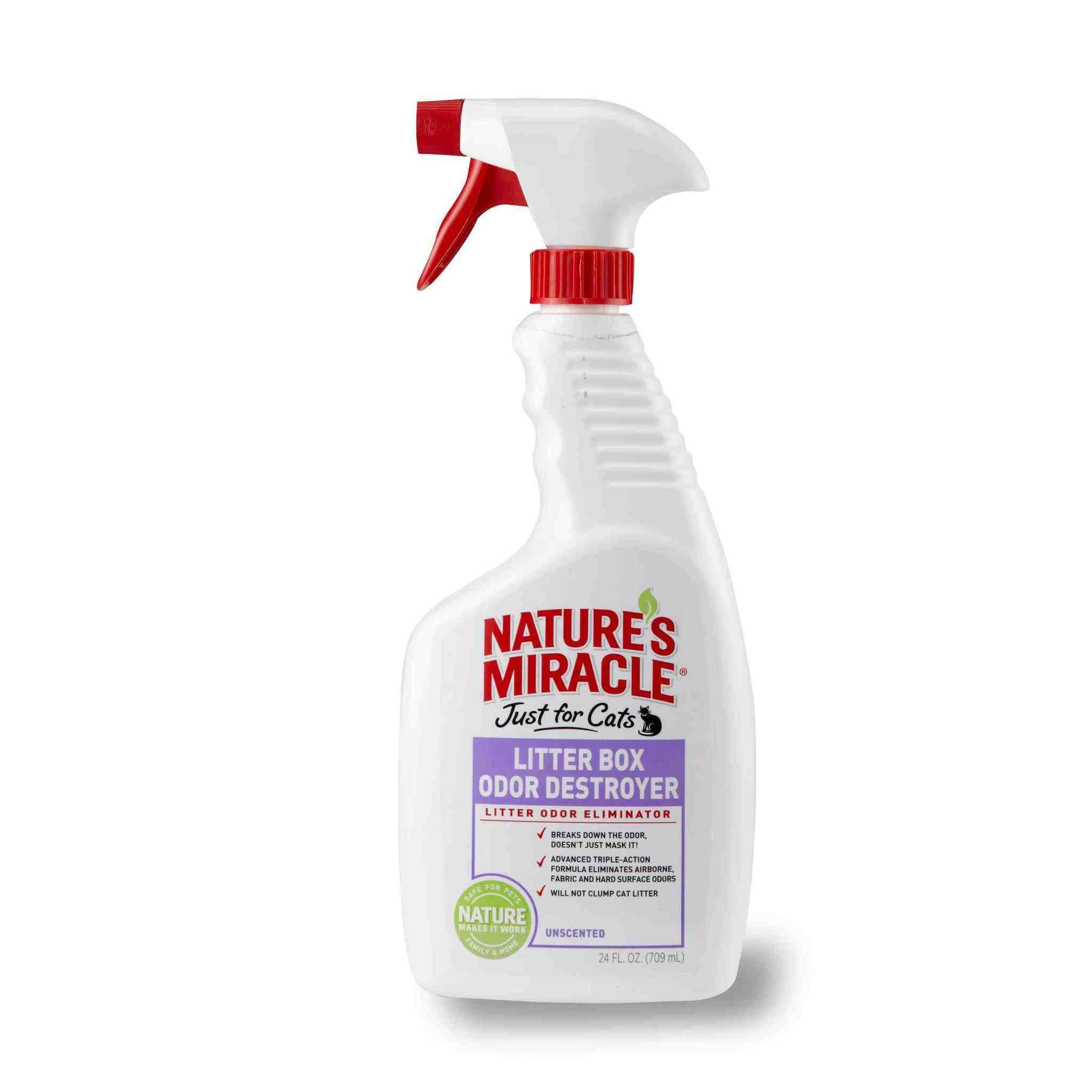 Nature's Miracle Just For Cats Litter Box Odour Destroyer Spray - Unscented, 710ml