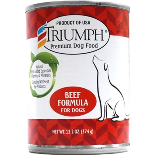 Sunshine Mills Triumph Dog Food - Canned Beef, 14oz