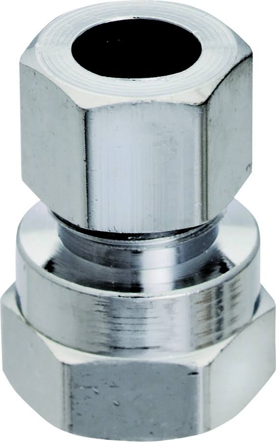 "Plumb Water Supply Straight Connector - 3/8"" X 1/2"""