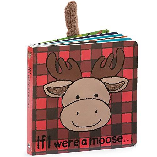 Jellycat Board Books - If I Were a Moose, 6""