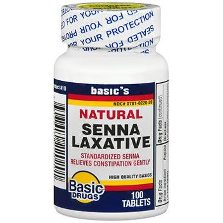 Basic Vitamins Senna-S Laxative - 100 Tablets