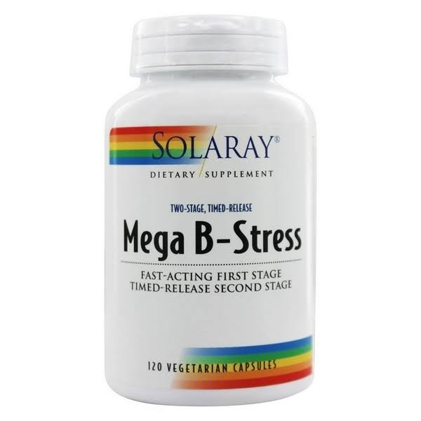 Solaray Mega B-Stress Supplement - 120 Vegetarian Capsules