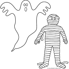 Haunted Halloween Crossword by Ghost With Mummy Coloring Page Halloween