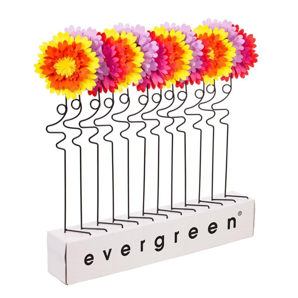 Evergreen Garden Stakes - Pink & Yellow Floral Garden Stake