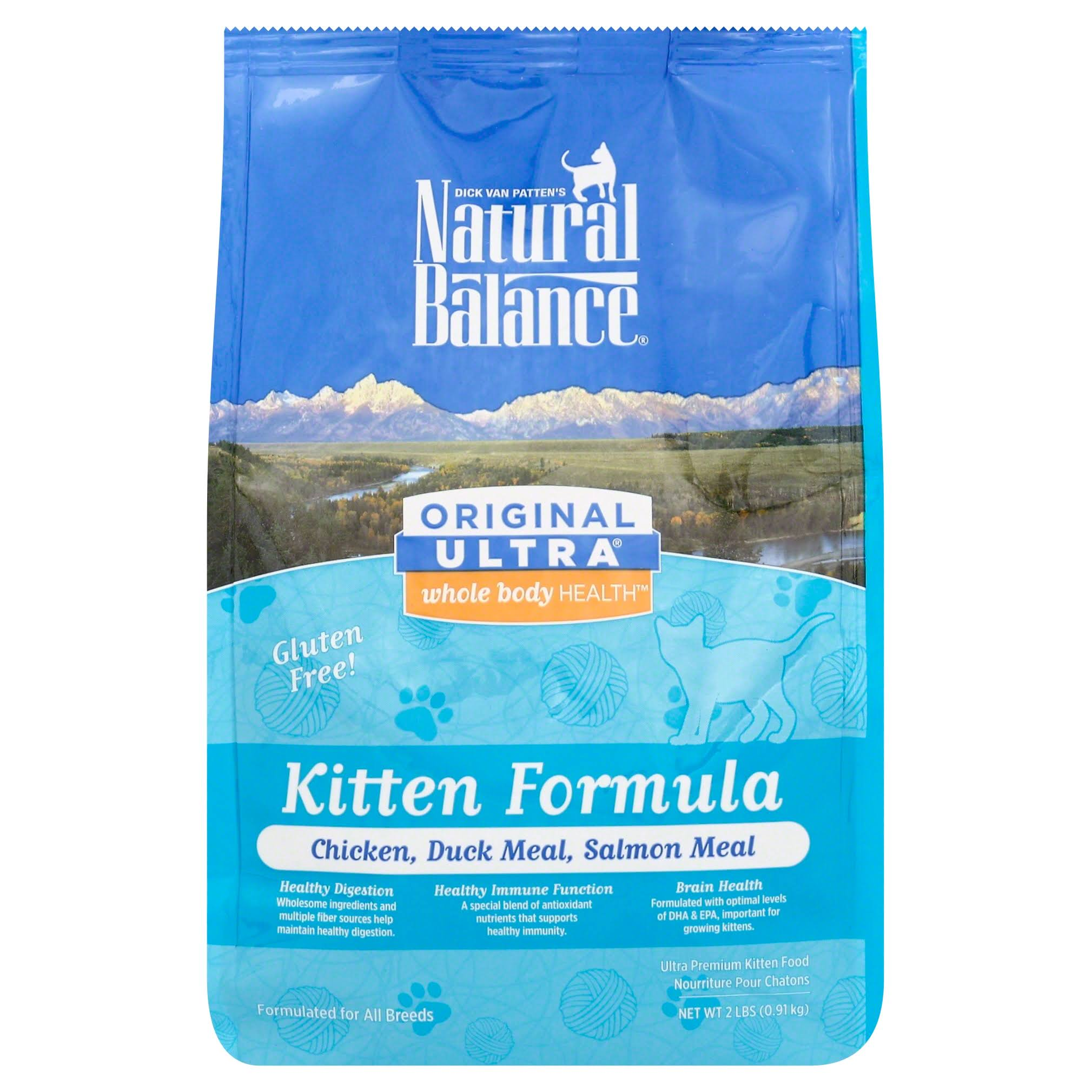 Natural Balance Kitten Formula Dry Cat Food - Chicken Duck and Salmon