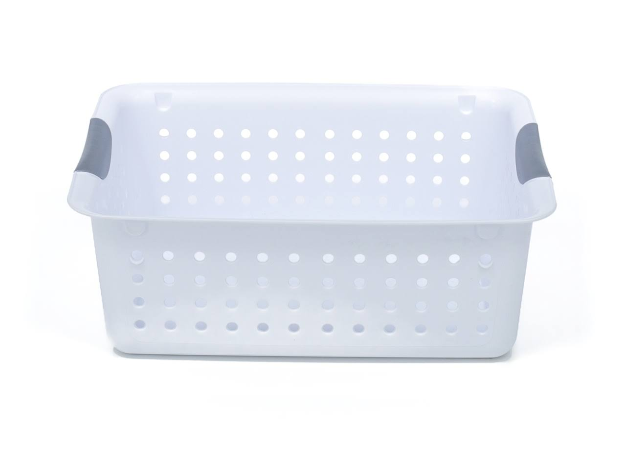 Sterilite Ultra Basket with Titanium Inserts - White