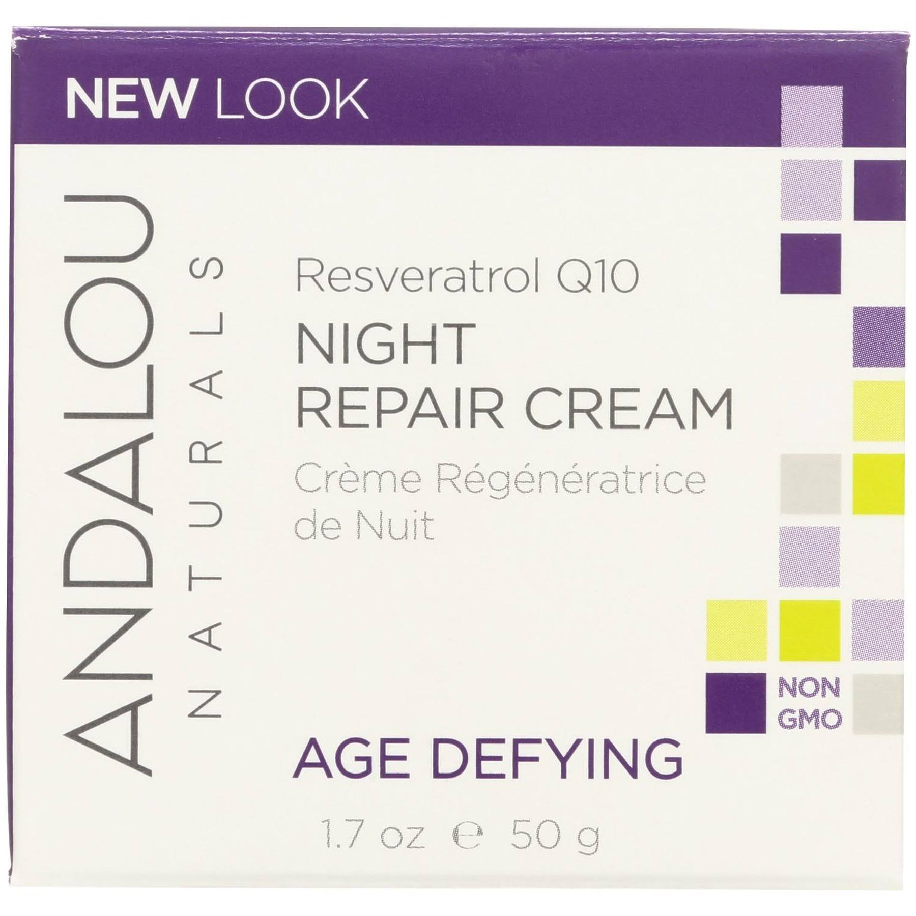 Andalou Naturals Fruit Stem Cell Night Repair Cream - 50ml