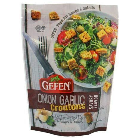 Gefen Salad Croutons, Onion & Garlic, 5.2 oz