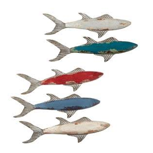CBK Small Fish Wall Decor Set of 5