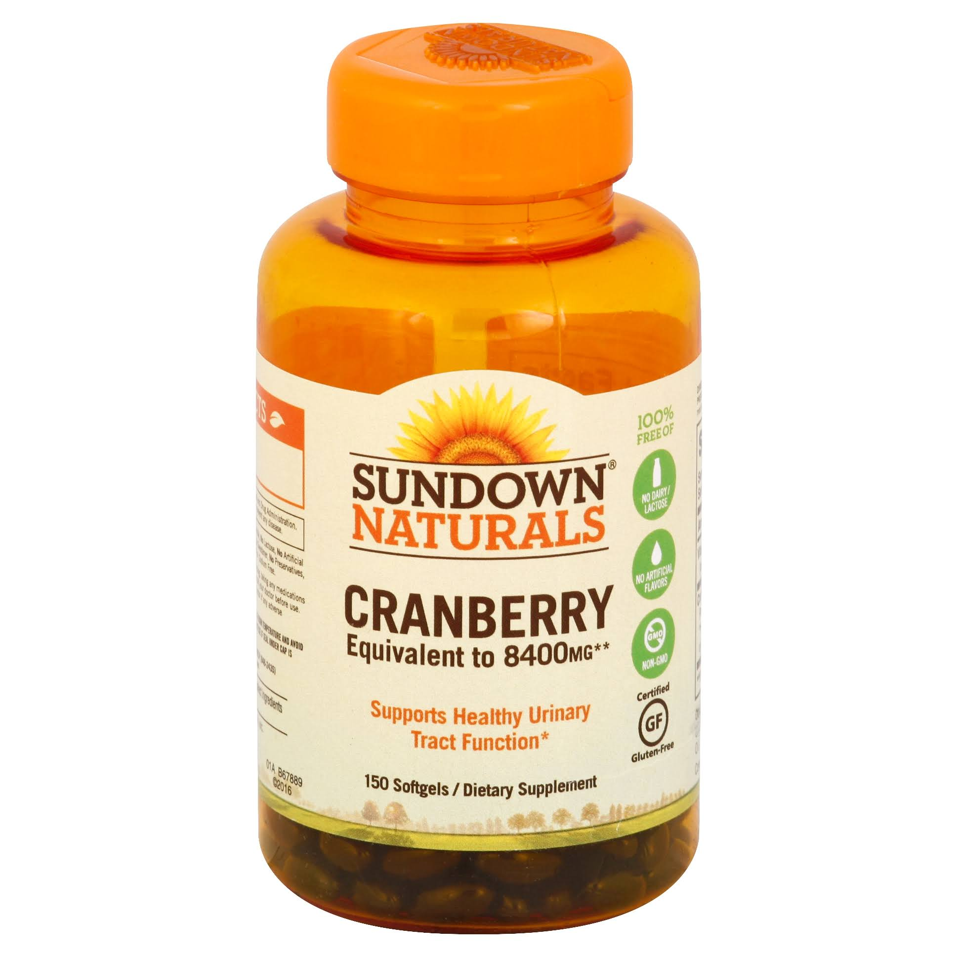 Sundown Naturals Cranberry Softgels - x150