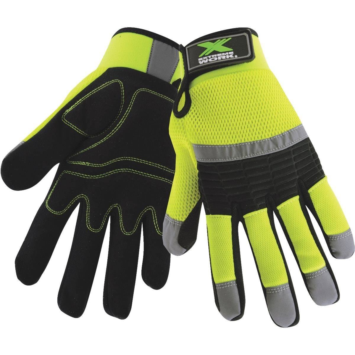 West Chester Protective Gear Extreme Work High Visibility Work Glove
