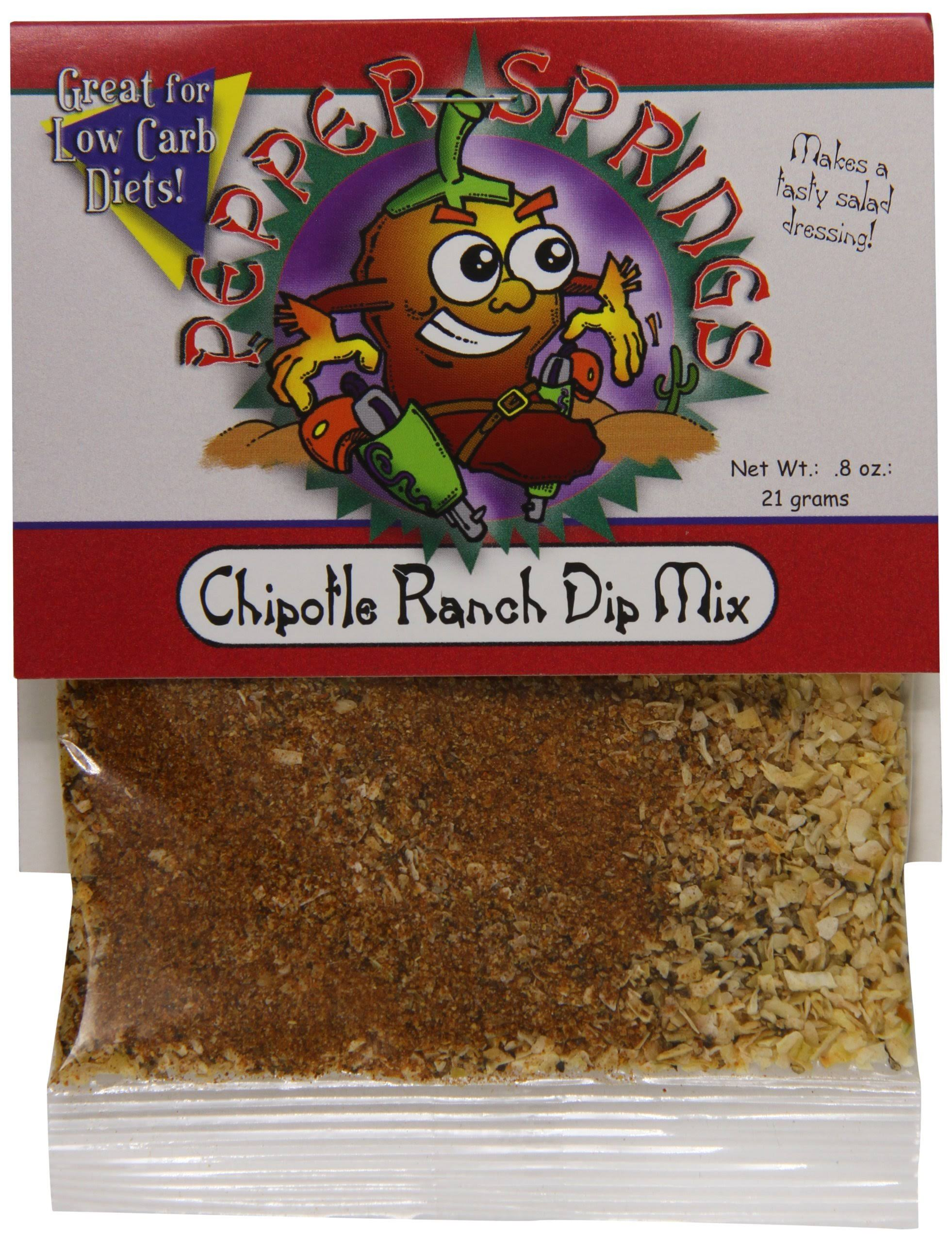 Pepper Springs Chipotle Ranch Dip Mix