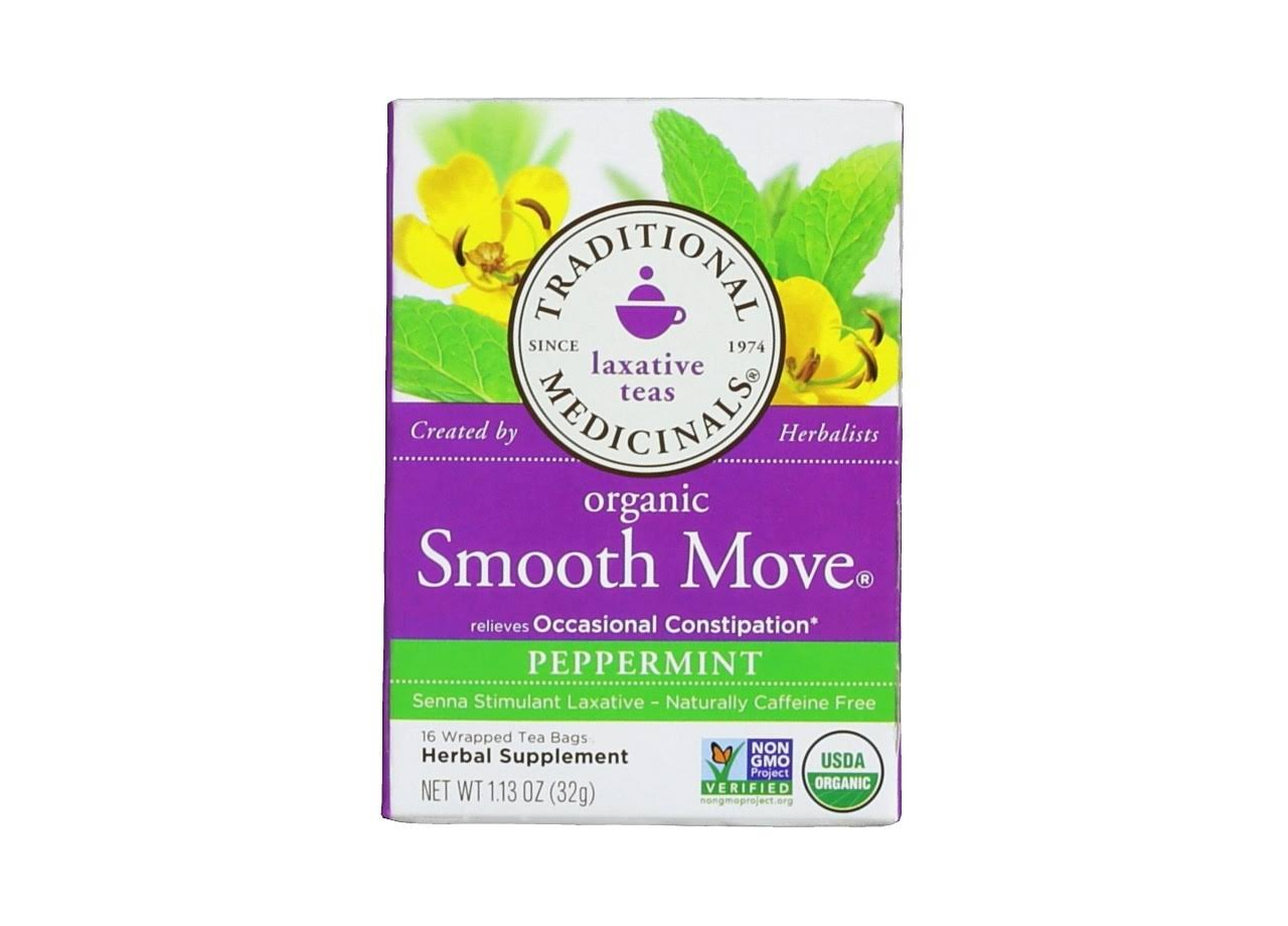 Traditional Medicinals Smooth Move Tea - Peppermint, 32g