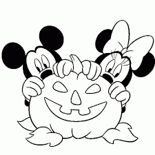 Disney Halloween Coloring Pages by Mickey Mouse Mickey Inside A Halloween Pumpkin Coloring Page