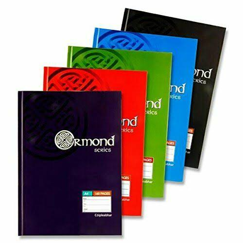 Ormond Hardback A4 Lined Book
