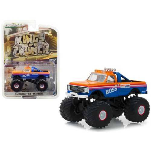 Ford F-250 Monster Truck Kings of Crunch Year 1974 Blue 1:64 Greenlight
