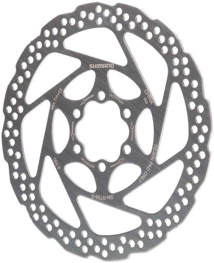 Shimano RT56S 160mm 6-Bolt Disc Brake Rotor Resin Pad Only