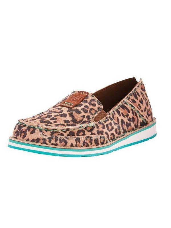 Ariat Womens Turquoise Cheetah Cruiser Brown