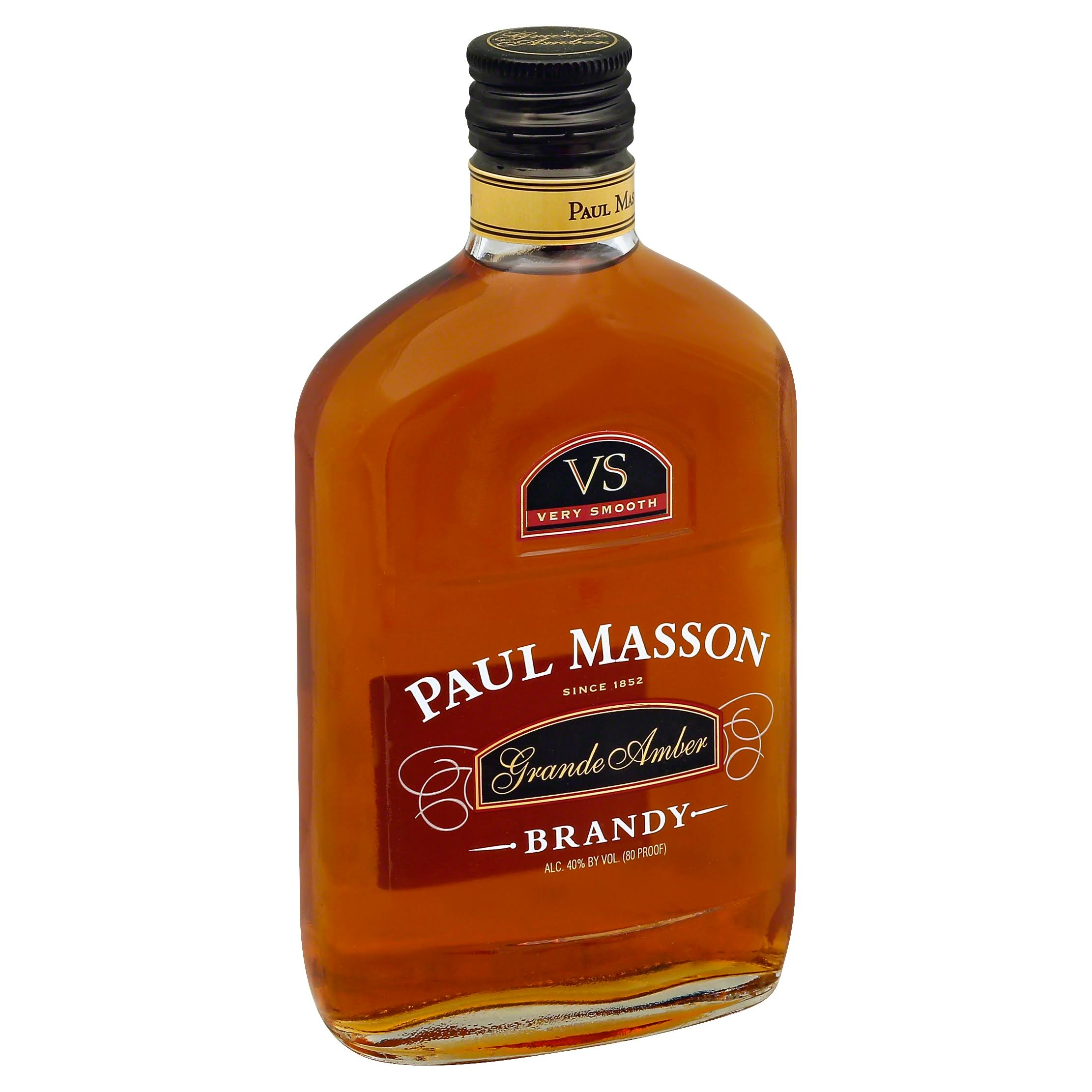 Paul Masson Grande Amber Brandy, VS Very Smooth - 375 ml