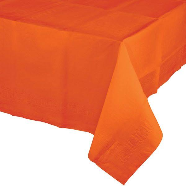 Celebrations Plastic Tablecloth, Sunkissed Orange (913282)