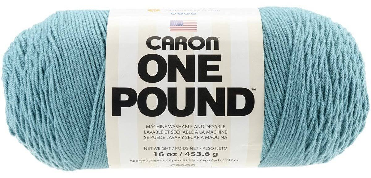 Caron One Pound Solids Yarn - Aqua, 16oz