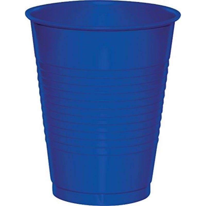 Touch of Color Plastic Cups - 16oz, Cobalt, 20ct