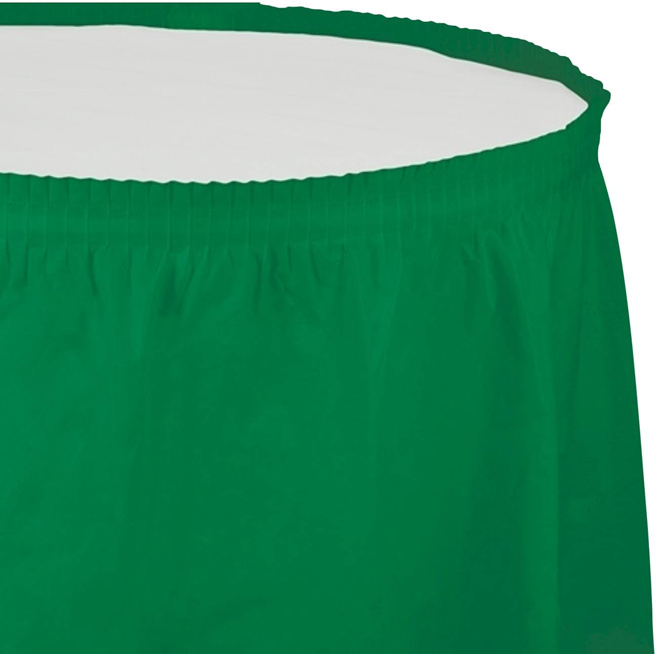 Creative Converting Plastic Table Skirt 14-Feet Emerald Green