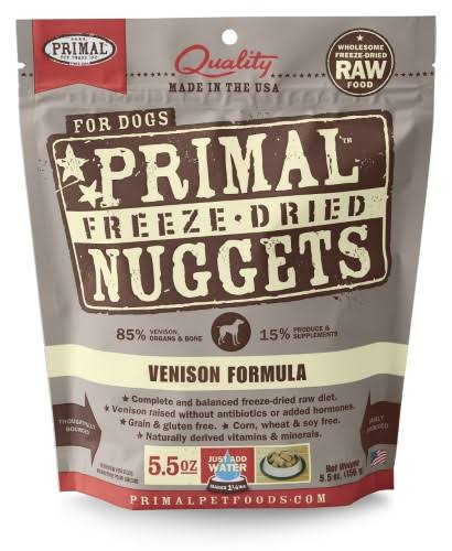 Primal Freeze Dried Nuggets Venison Formula Dog Food 5.5 oz.