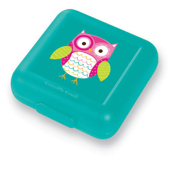 Crocodile Creek Girls Eco Reusable Owl Sandwich Keeper - Teal
