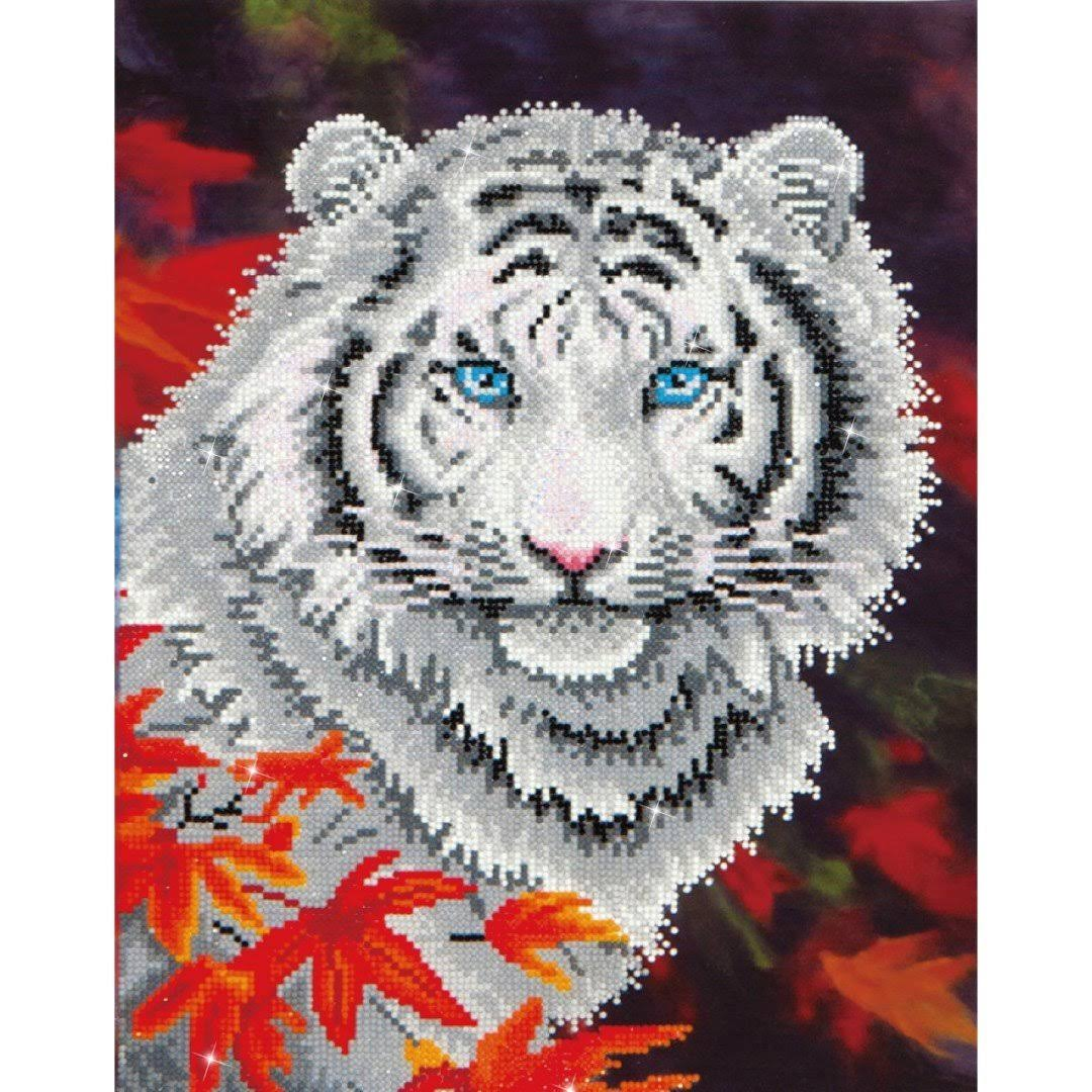 Diamond Dotz Embroidery Facet Art Kit - White Tiger in Autumn
