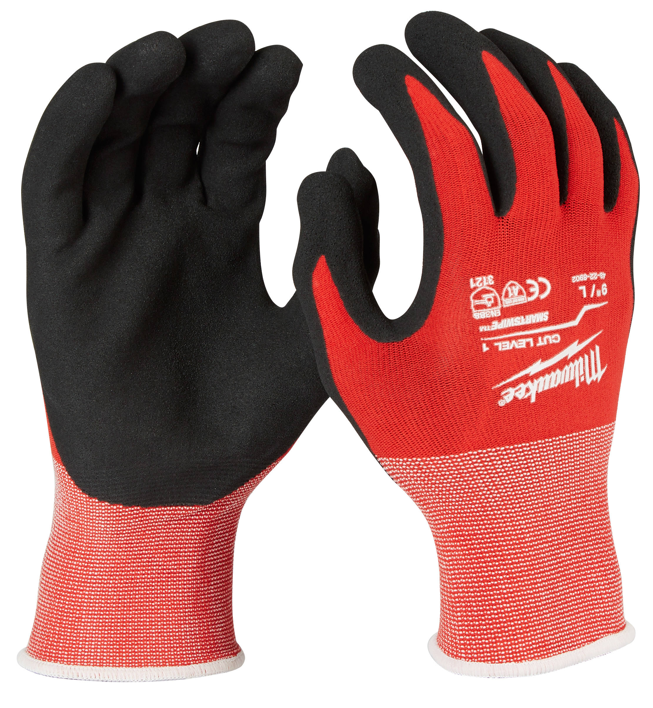 Milwaukee Nitrile Dipped Work Gloves - Red, Large