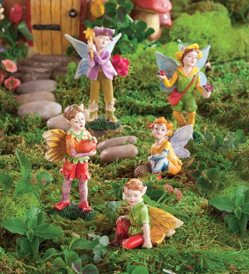 Magic Cabin 5-Piece Fairy Figurines Set in Boy