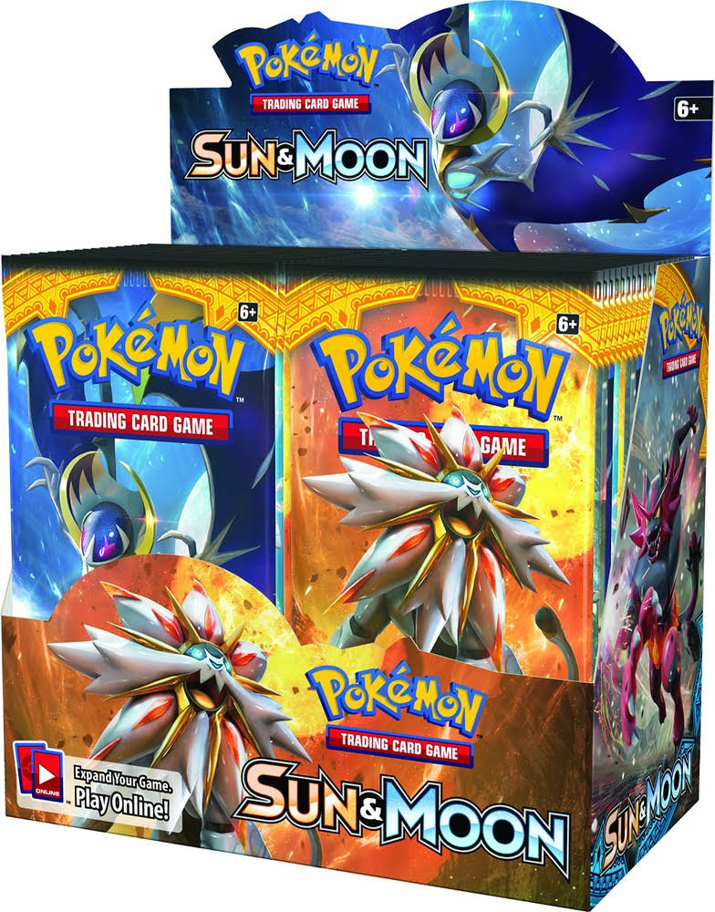 Pokemon Trading Card Game - Sun and Moon Booster Box, 36 Packs of 10 Cards