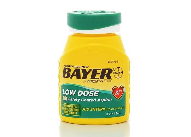 Bayer Aspirin Regimen Low Dose Enteric Coated Tablets - 81mg, 300ct