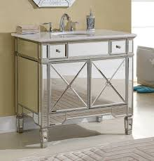 Ebay Bathroom Vanity With Sink by This Adelina 36 Inch Mirrored Silver Bathroom Vanity Will Add