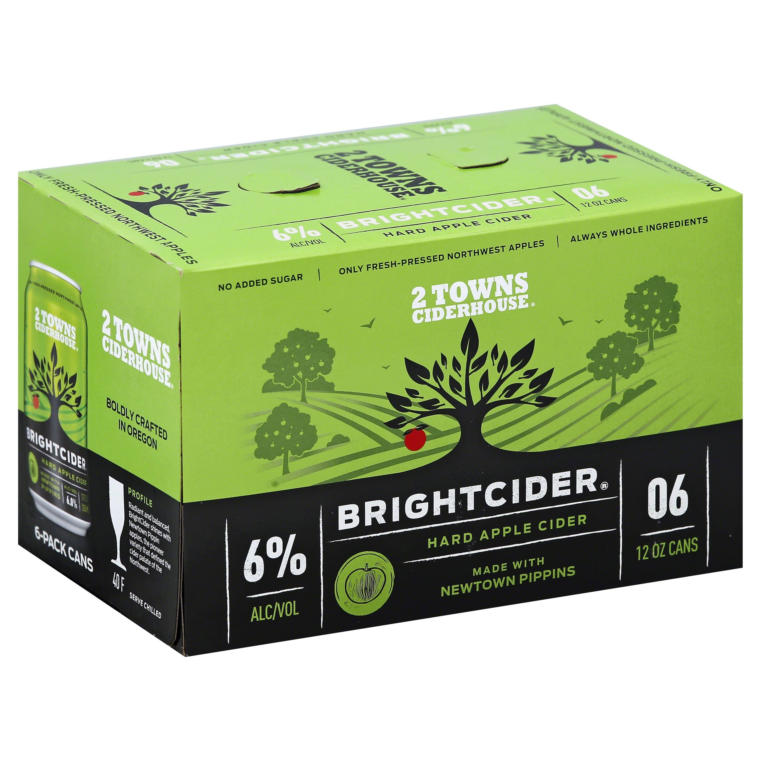 2 Towns Ciderhouse Bright Cider - 6 Cans