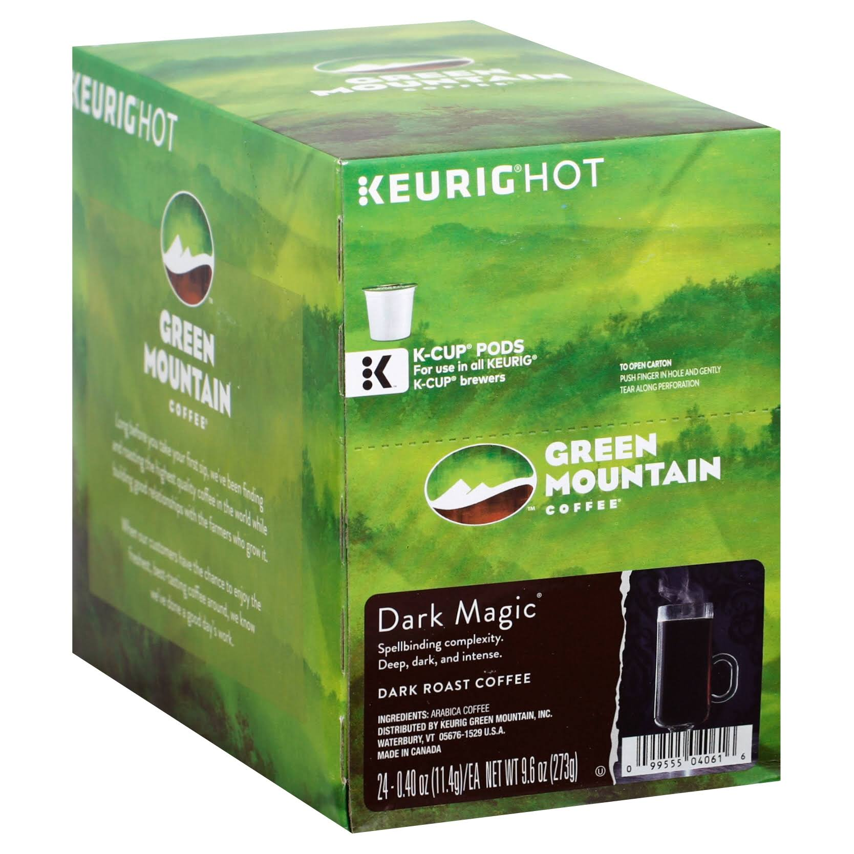 Green Mountain Coffee Dark Magic Single Serve K Cup Coffee - 276g