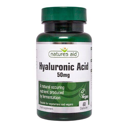 Natures Aid Hyaluronic Acid Food Supplement - 50mg