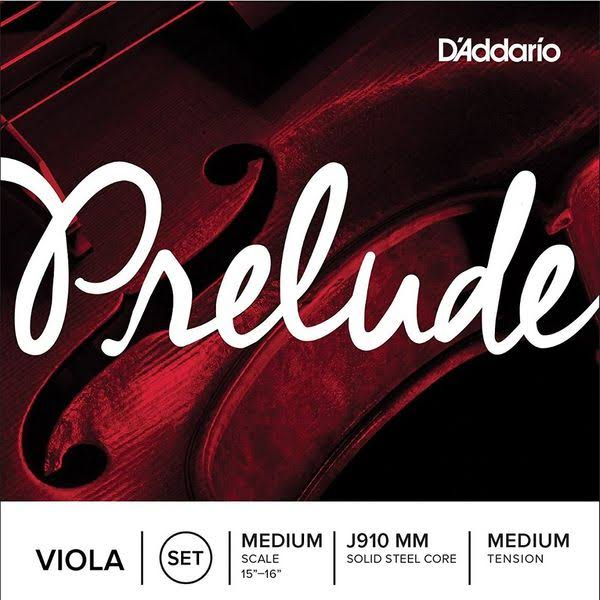 D'Addario Prelude Viola String Set - Medium Tension
