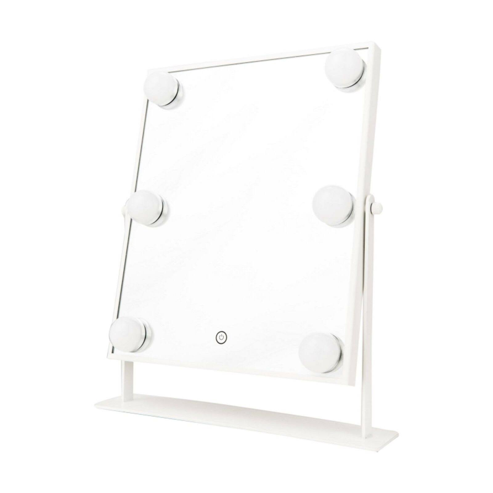 Danielle Hollywood 1X 6-Light LED Vanity Mirror - White