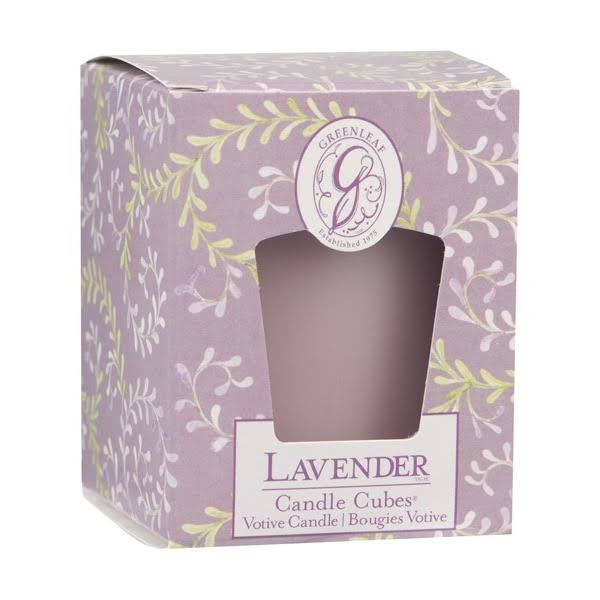 Greenleaf Home Scented Cube Votive Candle - Lavender
