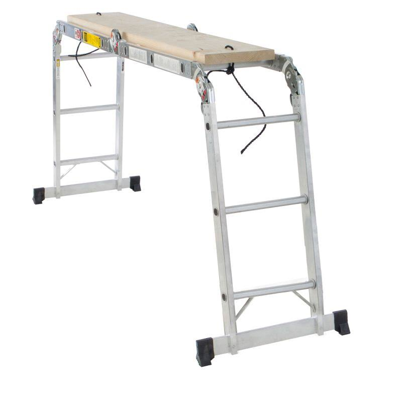 Werner Multi-Ladder Articulated Ladder - Aluminum, 12', 300lbs